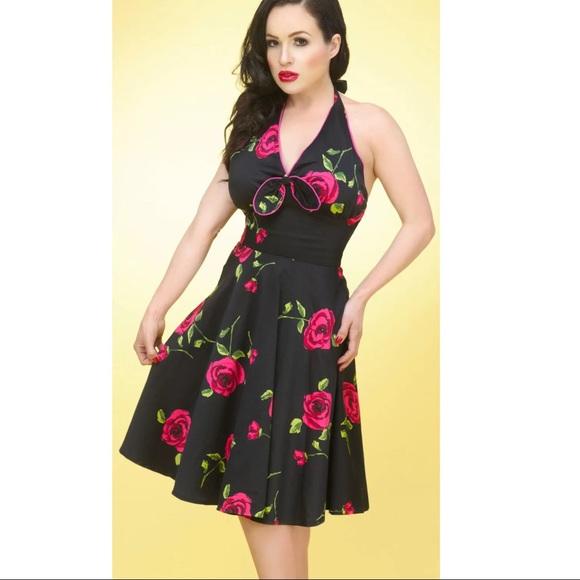a2adadd72cf86 NWT Voodoo Vixen Floral Halter Dress Small